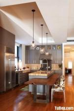 Tủ bếp gỗ MDF Acrylic có bàn đảo – TBB109
