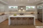 Tủ bếp hình chữ U gỗ MDF acrylic– TBB219