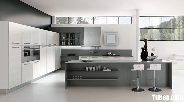 tủ bếp crylic Tủ bếp gỗ MDF Acrylic có hệ tủ kho – TBB048