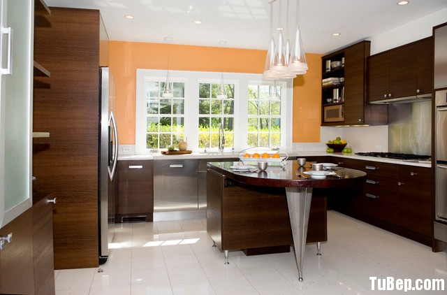 2106 Acrylic thế giới tủ bếp miền bắc Tủ bếp gỗ MDF Acrylic có bàn đảo – TBB116
