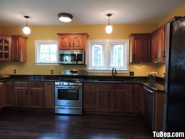 xoan đào 1 Tủ bếp gỗ xoan đào – TBB067