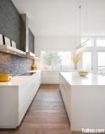 Tủ bếp gỗ MDF Acrylic, có bàn đảo – TBB209