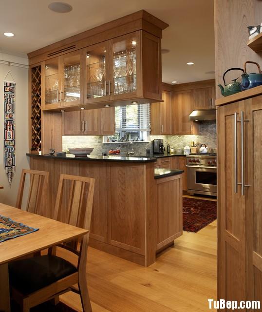 TBB028 Tủ bếp gỗ dổi   TBB020