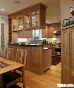 Tủ bếp gỗ dổi – TBB020