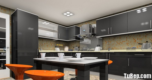 Acrylic 4 Tủ bếp gỗ MDF Acrylic – TBB077