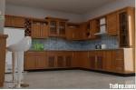 Tủ bếp gỗ xoan đào – TBB080