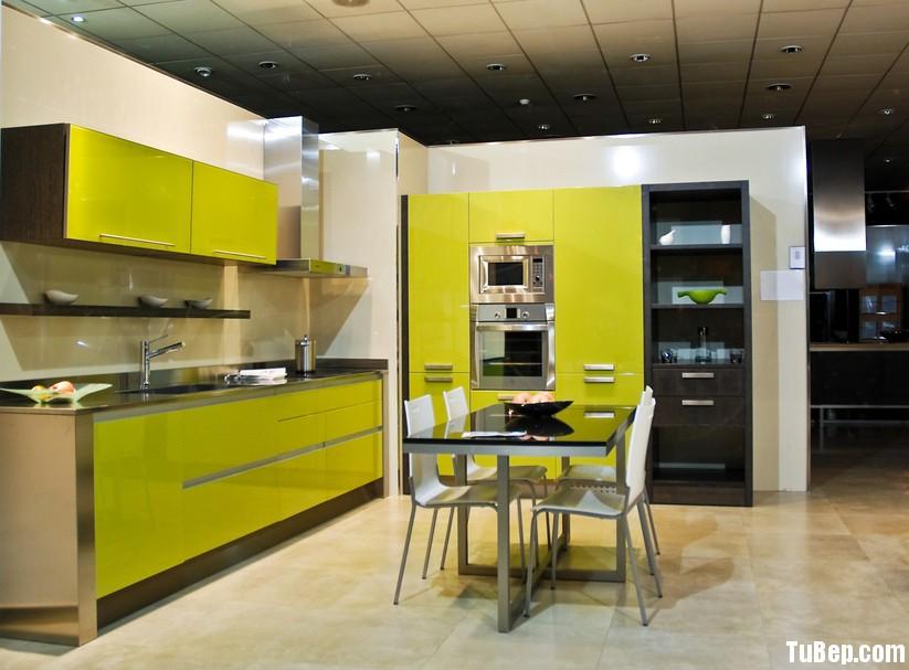 Acrylic màu xanh neon Tủ bếp gỗ Technolux TBN0210