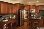 Tủ bếp gỗ Xoan Đào sơn men chữ U TBT0821
