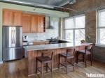 Tủ bếp gỗ xoan đào TBT0089