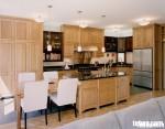 Tủ bếp gỗ Sồi Nga – TBB061