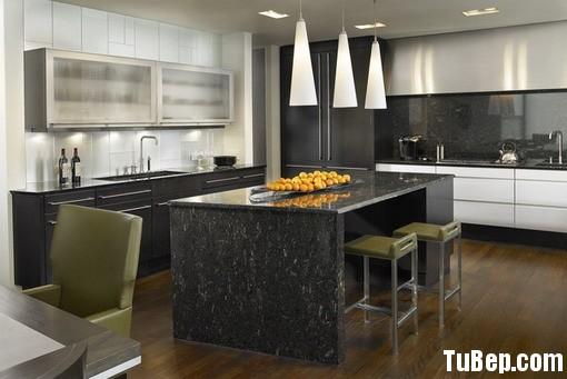 Lamiante vân nổi màu đen kết hợp Acrylic đen Tủ bếp gỗ Laminate kết hợp Acrylic TBT0247