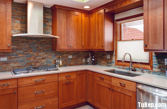 craftsman kitchen Tủ bếp MDF Laminate chữ L   TBB054