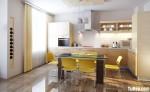 Tủ bếp laminate có đảo TBN0222