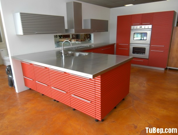 Countertop Stainless Steel Laminate Sheets 610x462 Tủ bếp gỗ Acrylic chữ L TBT0085