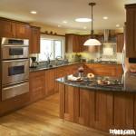 Tủ bếp gỗ dổi – TBB064