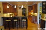 Tủ bếp Laminate có đảo TBT0431