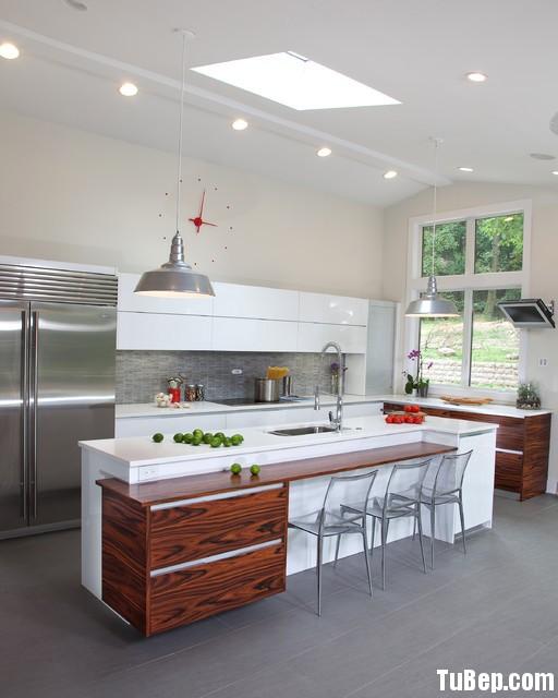 0906011 Tủ bếp gỗ MDF Acrylic, kèm bàn đảo – TBB065