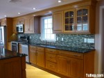 Tủ bếp gỗ Xoan đào HAGL, có bàn đảo – TBB208