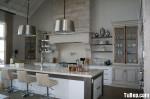 Tủ bếp gỗ MDF Acrylic, có bàn đảo – TBB081
