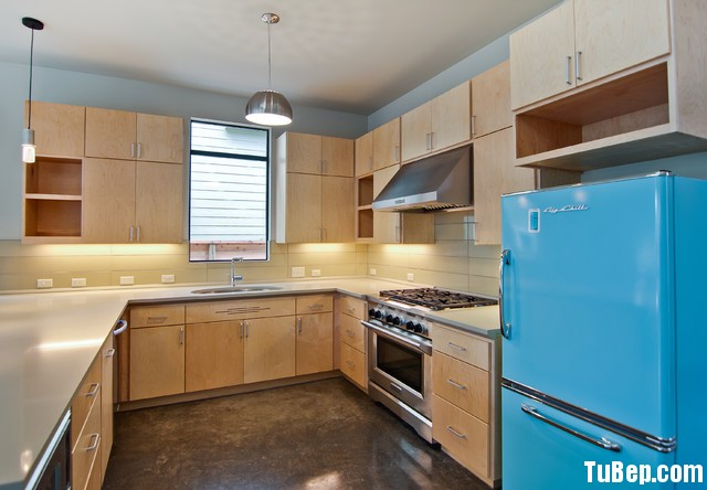midcentury kitchen Tủ bếp MDF Melamine TBB053
