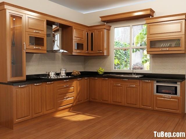 2607 3 Tủ bếp gỗ Dổi – TBB404
