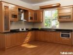 Tủ bếp gỗ Dổi – TBB404