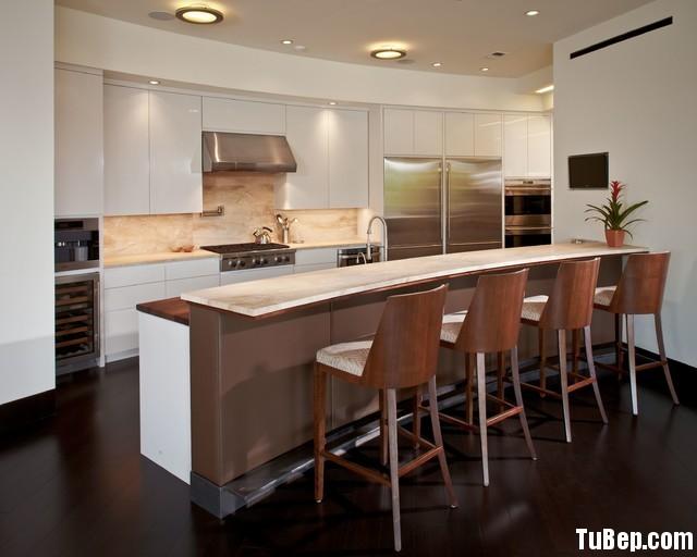 3007 2 Tủ bếp gỗ MDF Acrylic + bàn Bar – TBB424