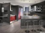 Tủ bếp Acrylic kết hợp Laminate có đảo TBT0311