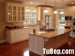 1807 3 Tủ bếp gỗ tự nhiên Sồi Mỹ sơn men trắng– TBB354