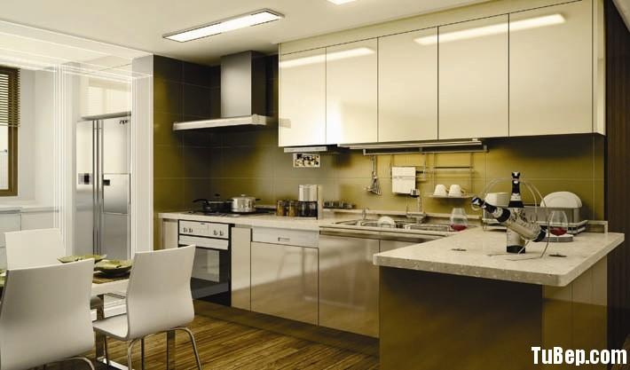 TBB018 Tủ bếp gỗ MDF Acrylic – TBB348