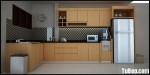 Tủ bếp gỗ Laminate chữ L TBT0396