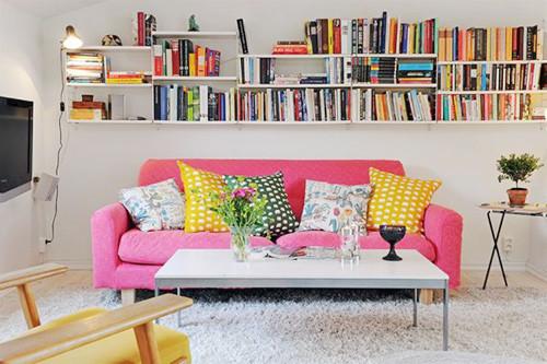 Trang trí gối cho bộ ghế sofa da nhập khẩu