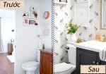 Làm mới phòng tắm bằng giấy dán tường