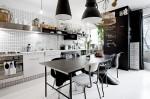 Ngắm phòng bếp hiện đại trong căn hộ 39m2