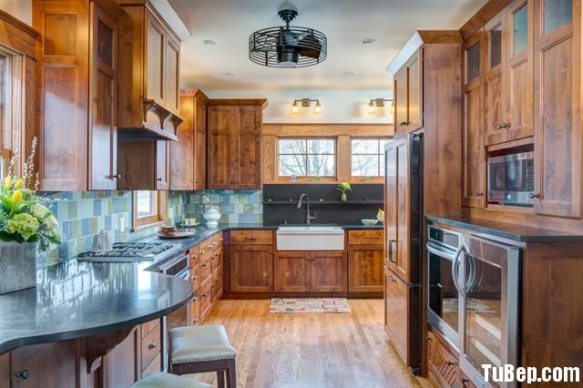 0707 Xoan đào Tủ bếp gỗ Xoan Đào – TBB290