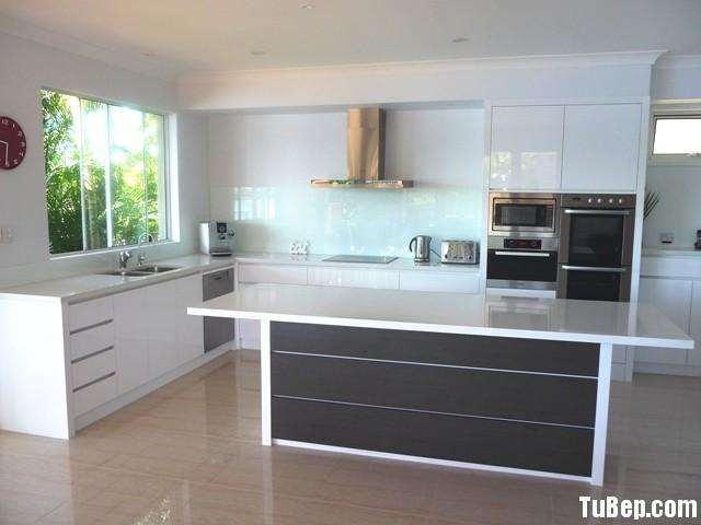 acrylic trắng Tủ bếp Acrylic có đảo TBT0379