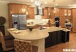 Tủ bếp gỗ Xoan Đào có đảo TBT0296