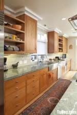 Tủ bếp gỗ tự nhiên Xoan Đào – TBB302