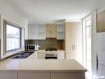 Tủ bếp gỗ Veneer Tần bì (Ash) chữ U TBT0299