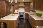 Tủ bếp gỗ tự nhiên Sồi Mỹ – TBB343