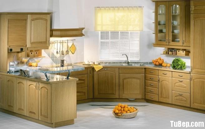 tủ bếp đẹp02 2012 Tủ bếp gỗ Sồi có đảo TBT0392