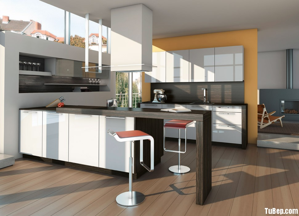 Tủ bếp Acrylic kết hợp Laminate TBT0324