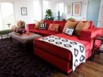 Mẫu sofa đỏ đẹp ấn tượng cho phòng khách