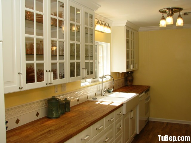 1607 sồi sơn men Tủ bếp gỗ tự nhiên Sồi sơn men – TBB341