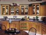 Tủ bếp gỗ tự nhiên Xoan đào kết hợp bàn đảo– TBB353
