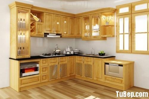 2607 1 Tủ bếp gỗ tự nhiên Sồi Nga – TBB403