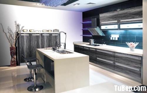 2707 1 Tủ bếp gỗ Melaminate có bàn đảo    – TBB406