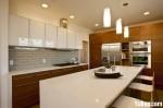 Tủ bếp gỗ MDF Acrylic có bàn đảo – TBB378