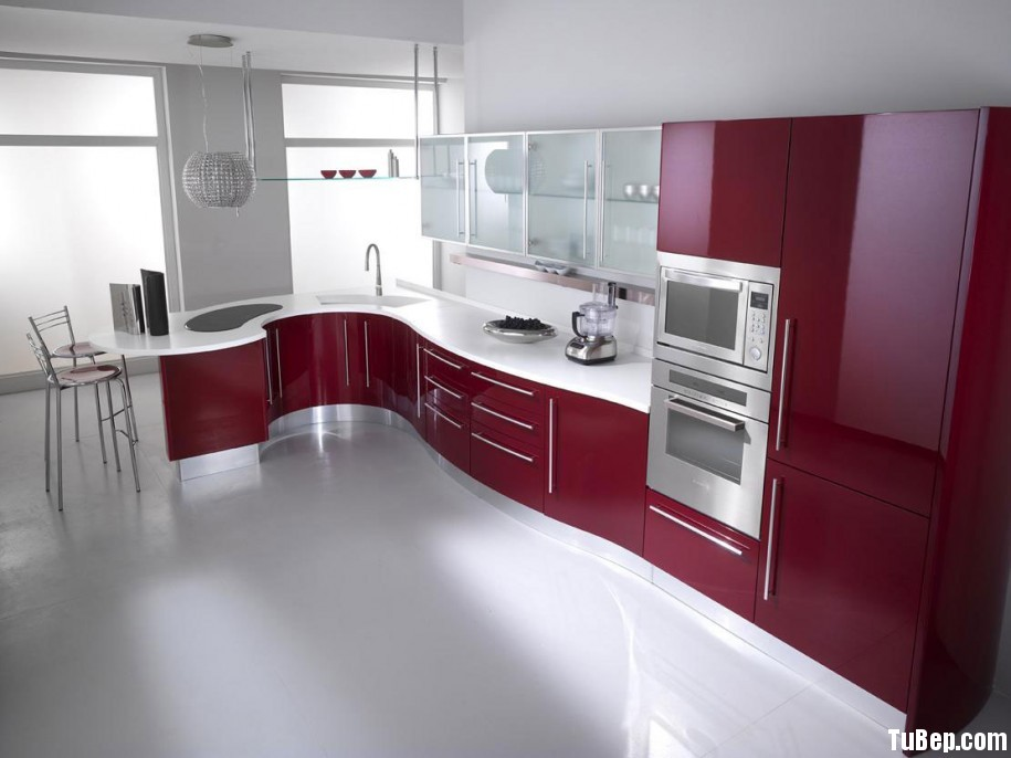 acrylic2 Tủ bếp Acrylic có đảo TBT0432