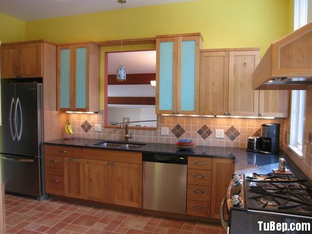 2407 6 Tủ bếp gỗ tự nhiên Xoan Đào – TBB393